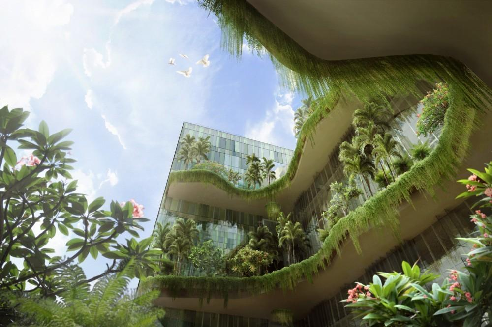 000 Square Meters Sky Gardens Connecting Singapore