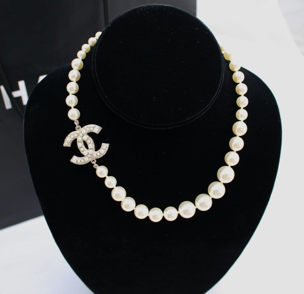 100 Auth Chanel Anniversary Pearls Crystal Classic