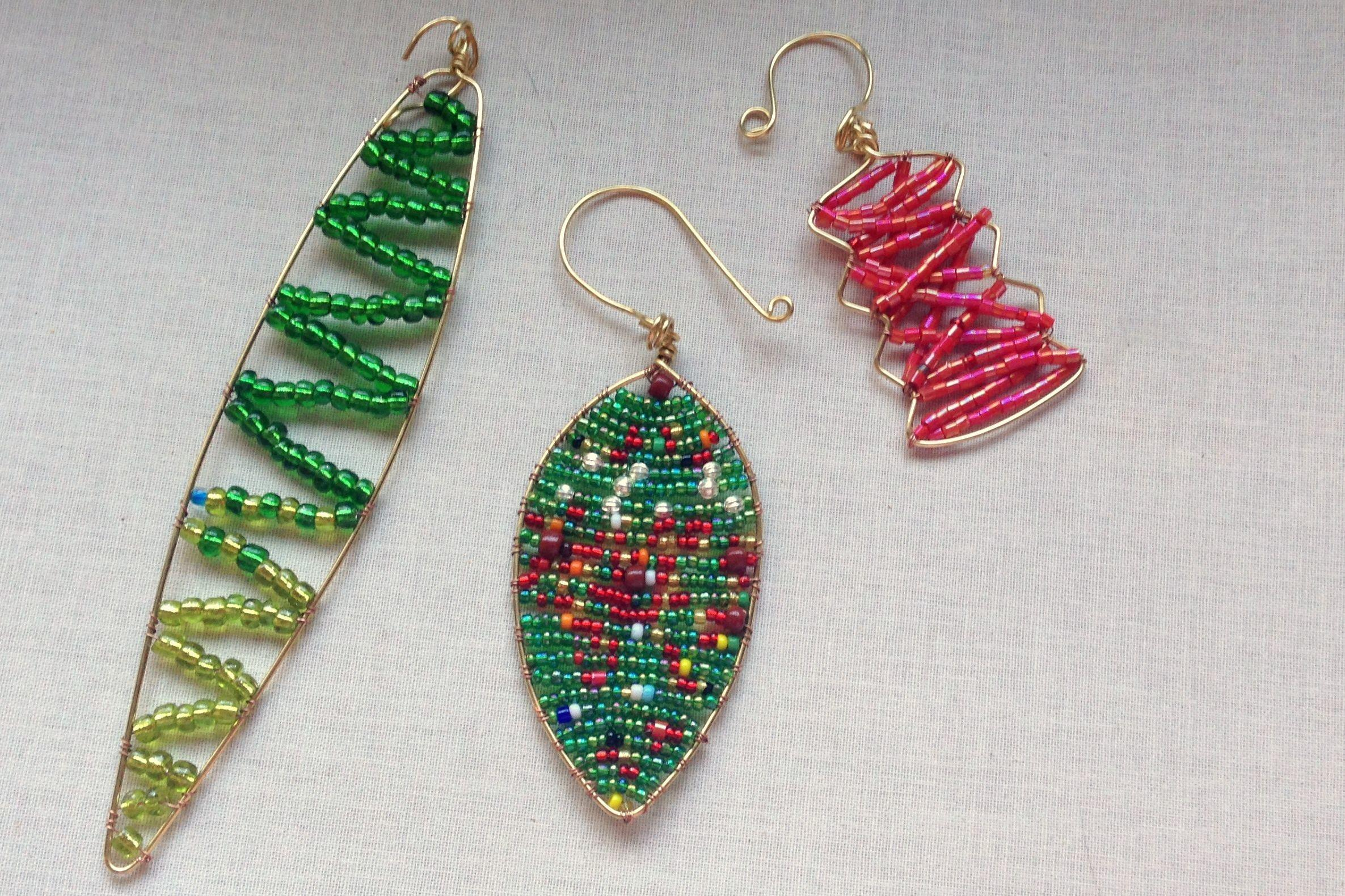 100 Beaded Christmas Ornament Covers