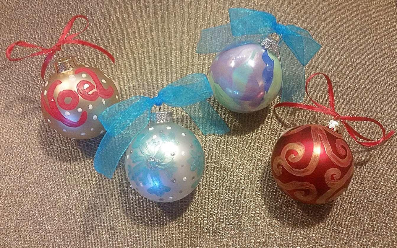 100 Christmas Ornament Painting Hand Painted