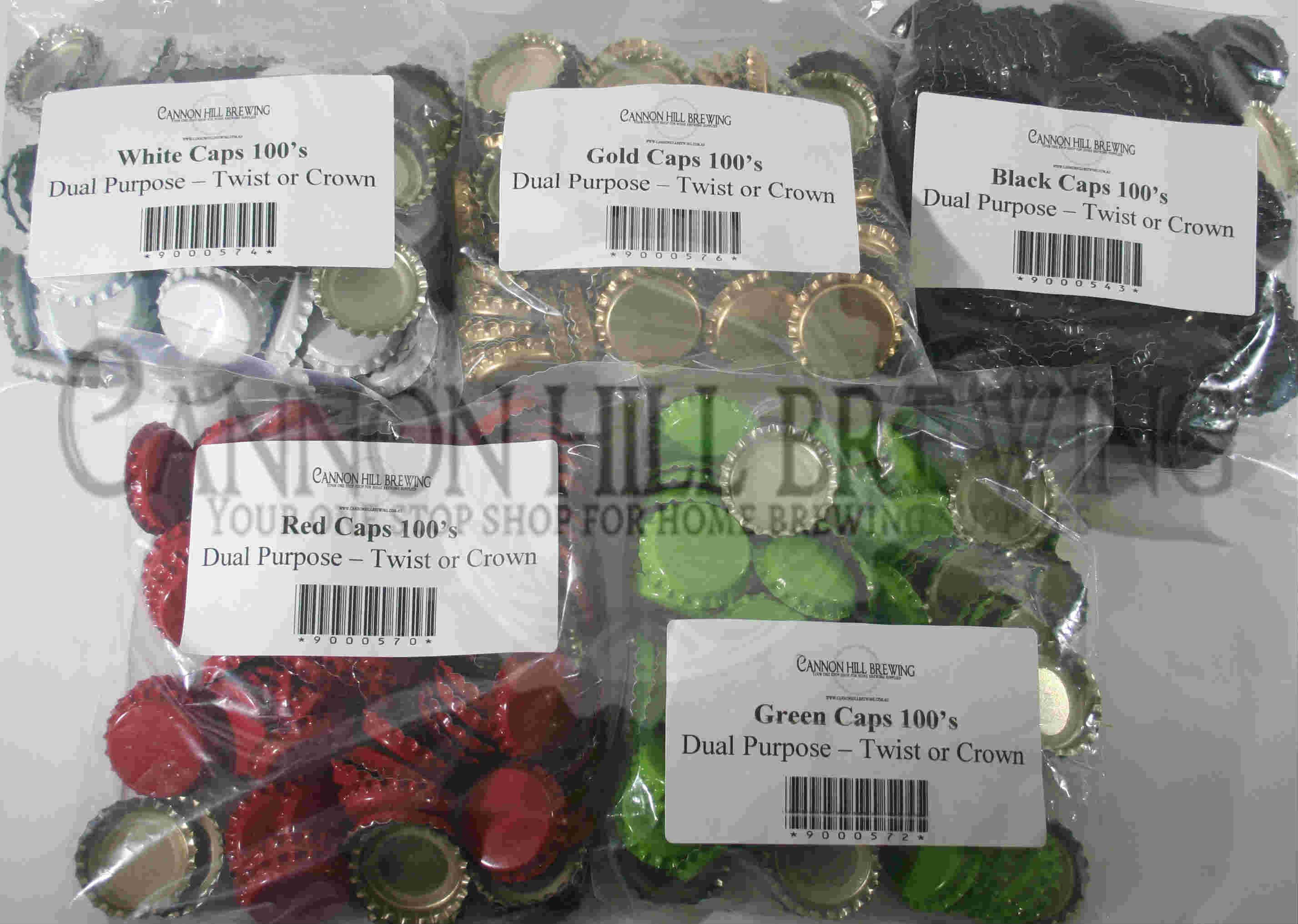 100 Dual Purpose Bottle Caps Cannon Hill Brewing Supplies