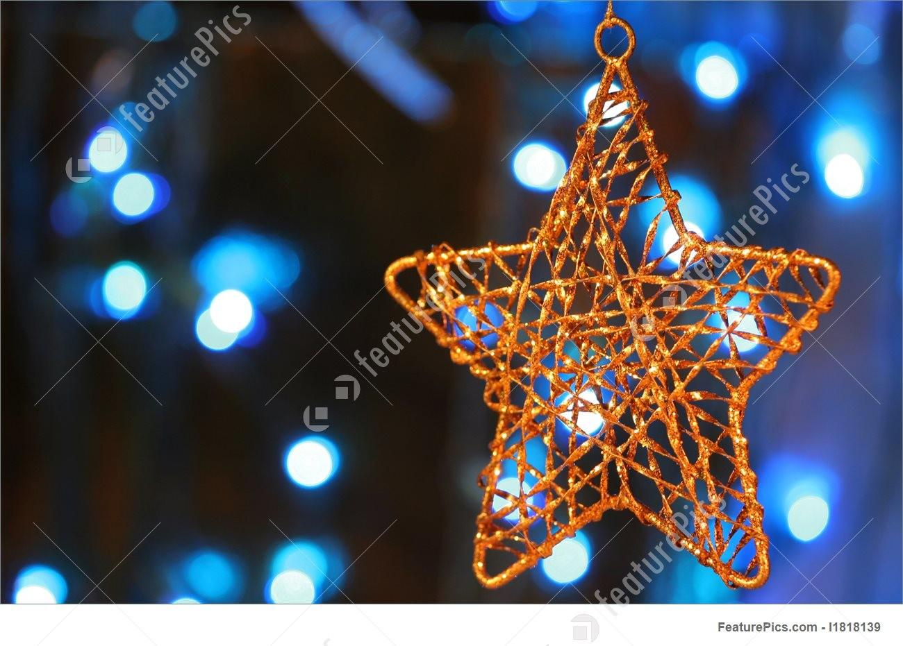 100 Gold Star Christmas Ornaments