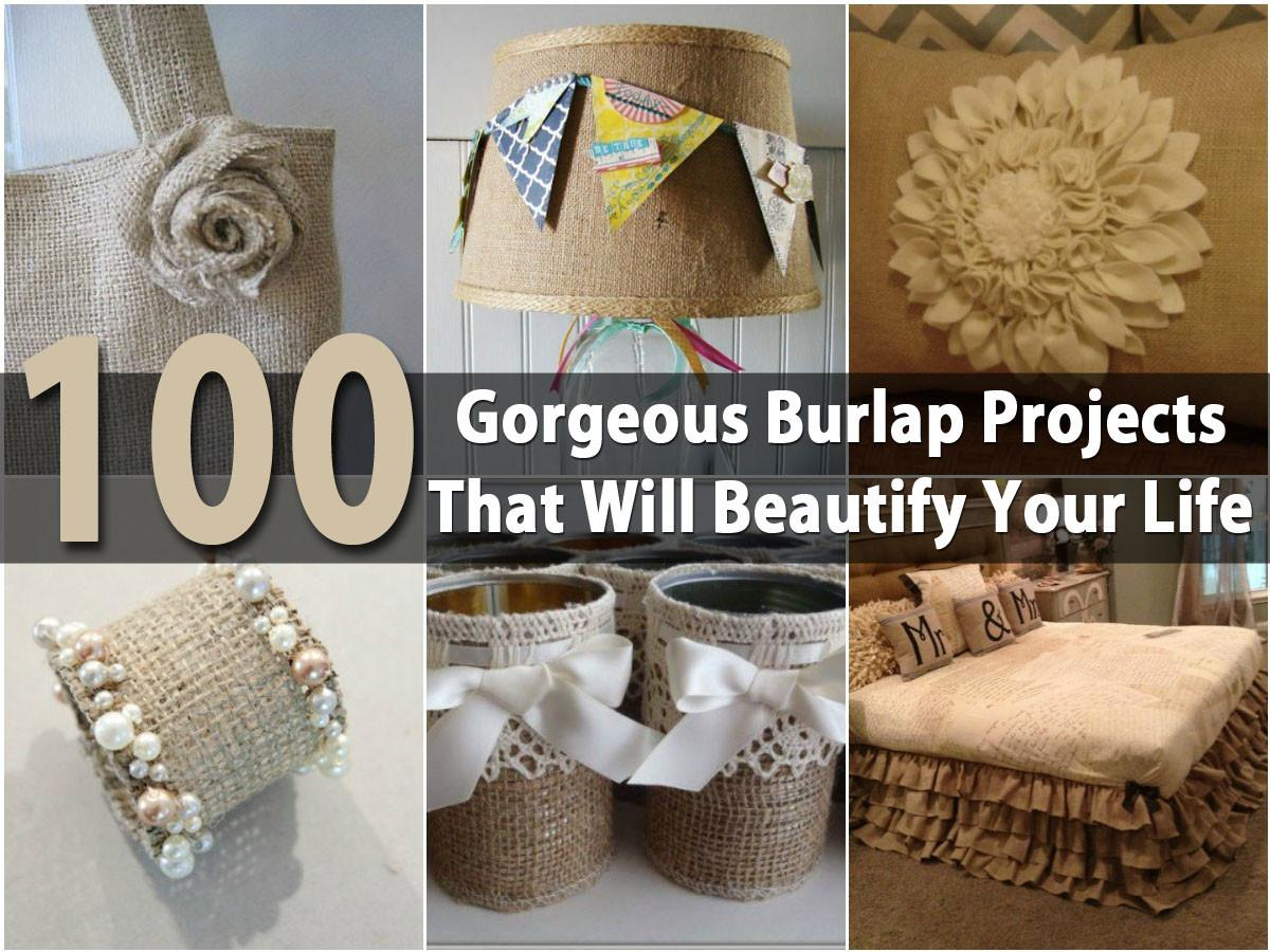 100 Gorgeous Burlap Projects Beautify Your Life