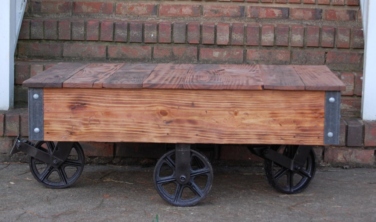100 Mill Cart Coffee Table Home Decorators