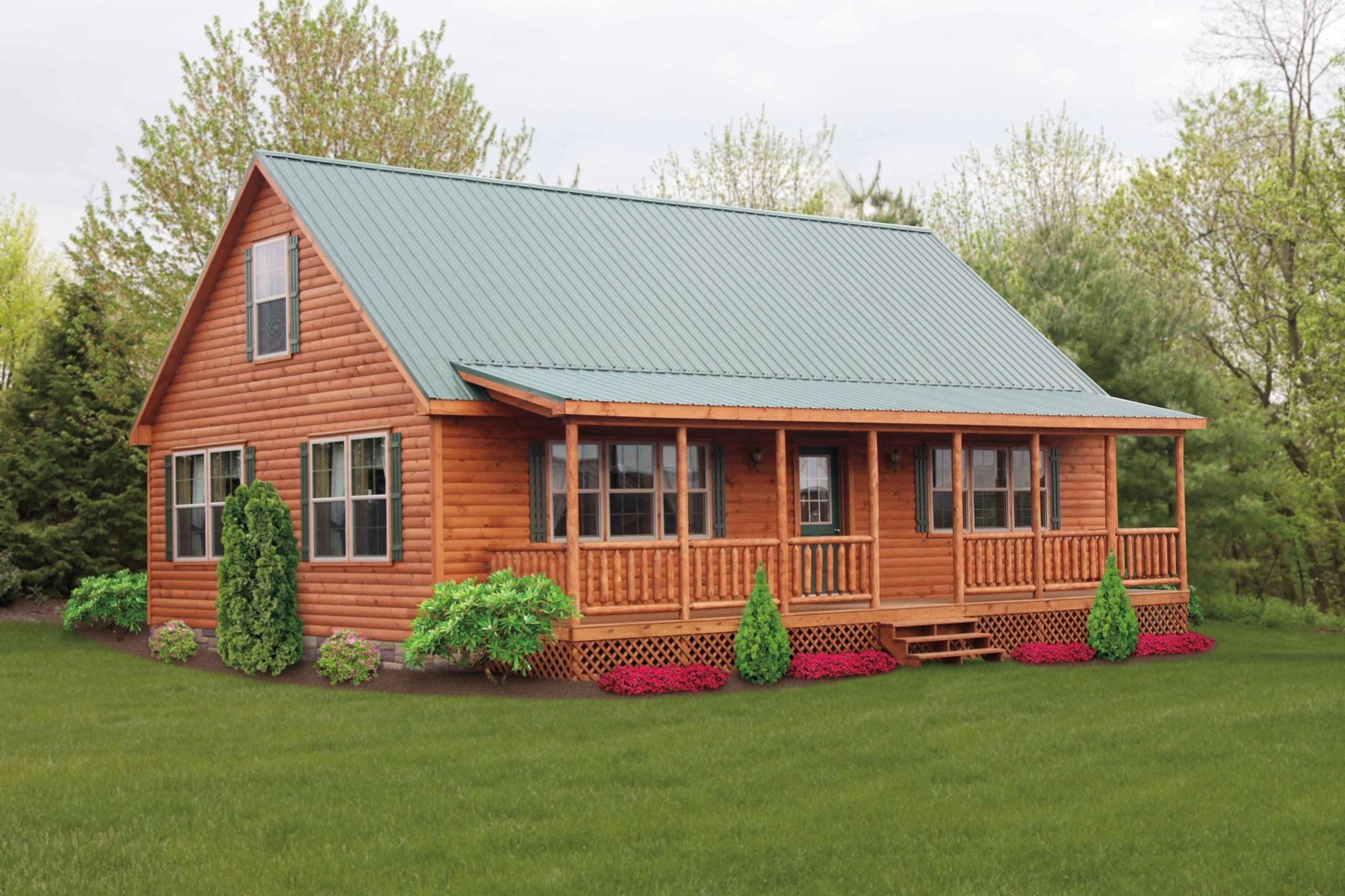 100 One Story Log Homes Cabins