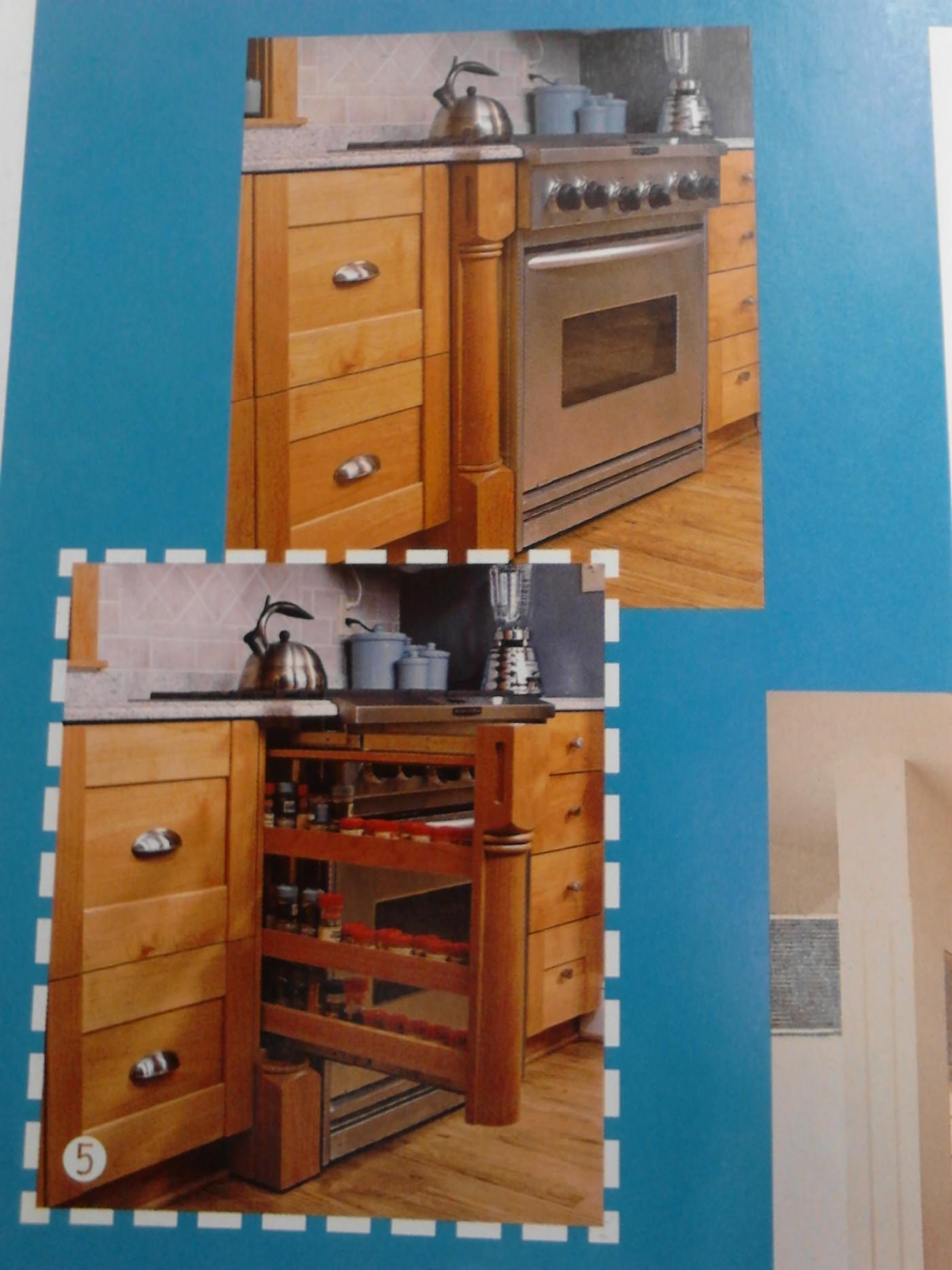 100 Pull Out Spice Racks Kitchen Cabinets Real