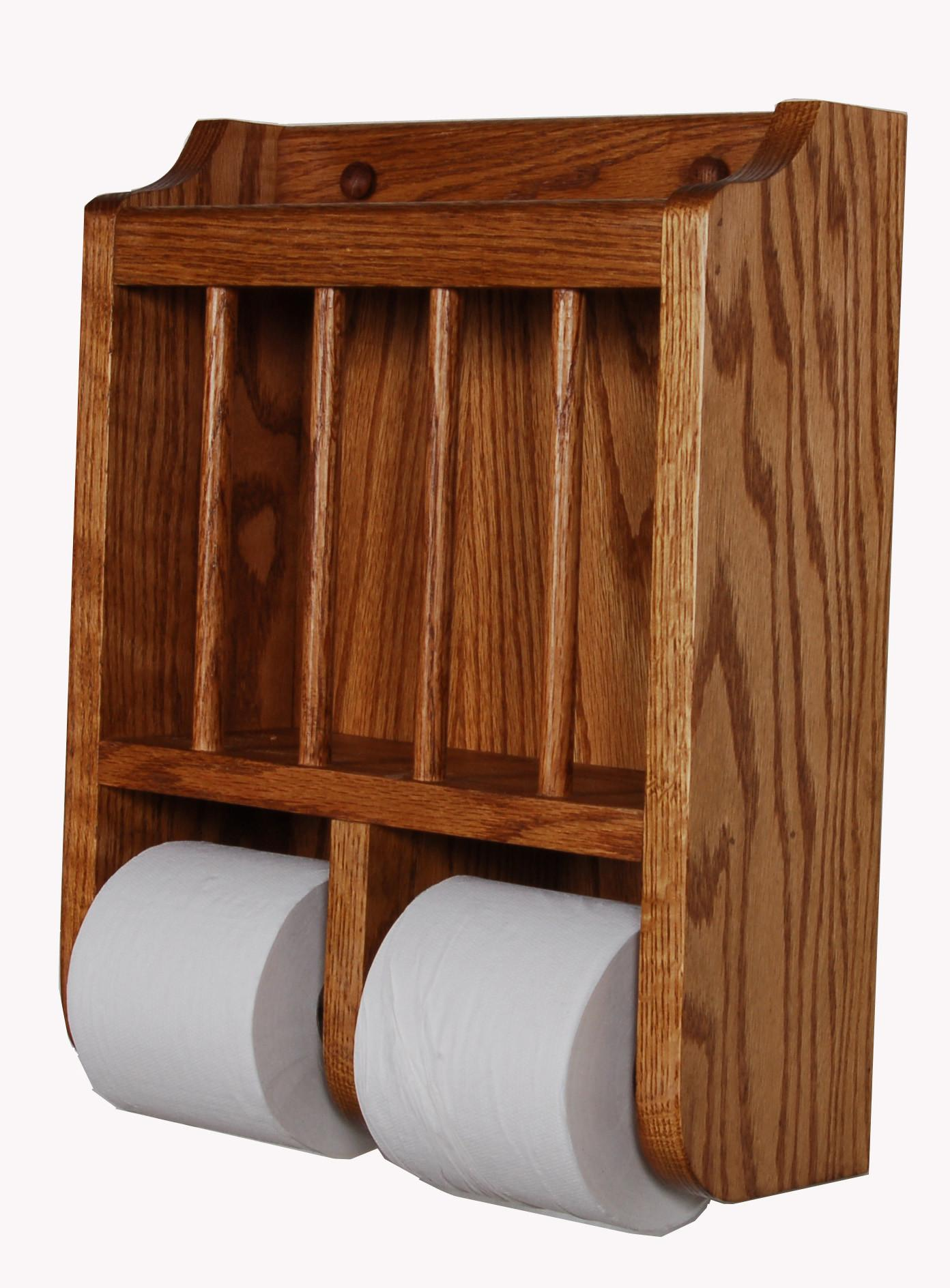 100 Wooden Toilet Paper Holder Red Wood