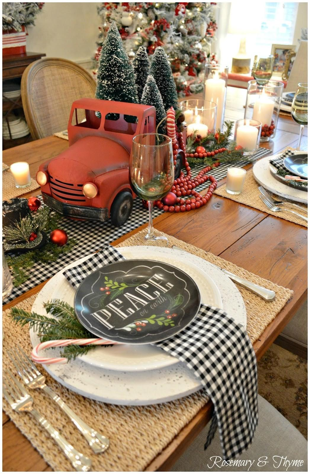 1000 Ideas Red Table Settings