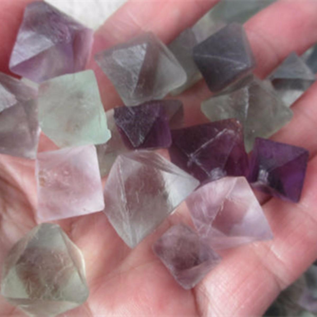 100g Natural Octahedrons Rock Stone Craft Diy Jewelry