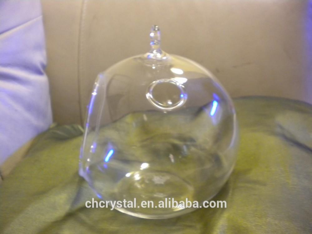 100mm Wholesale Clear Fillable Glass Ball Ornaments