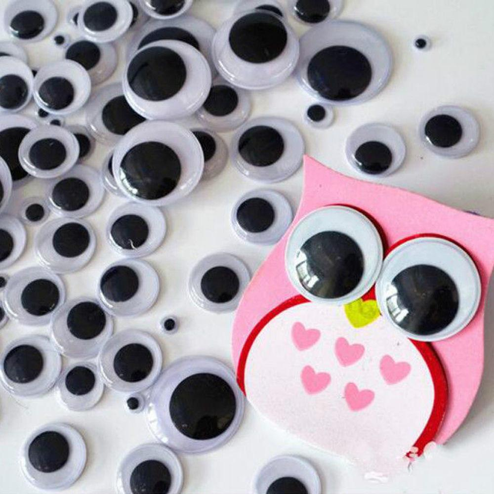 100pcs Useful Plastic Wiggle Googly Eyes Self Adhesive Diy