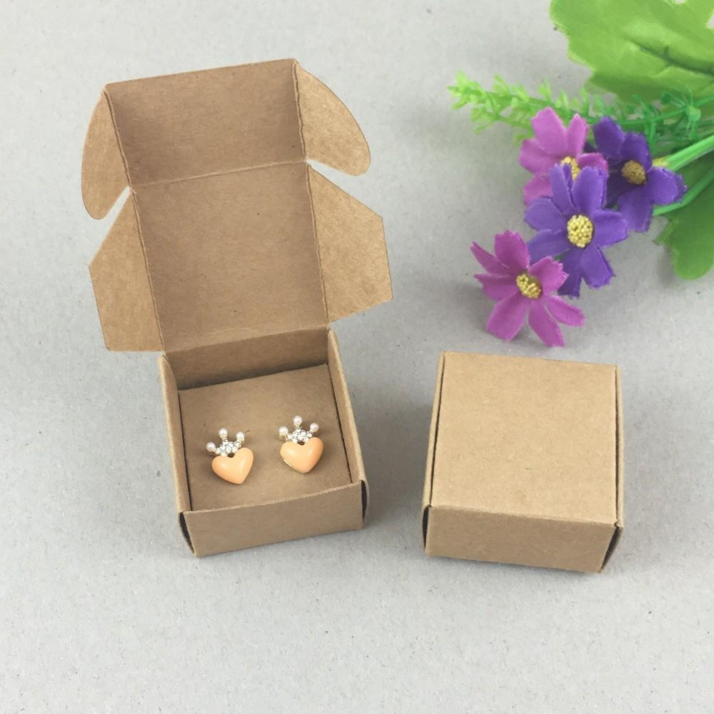 100set Paper Jewelry Boxes Earring Cards Kraft