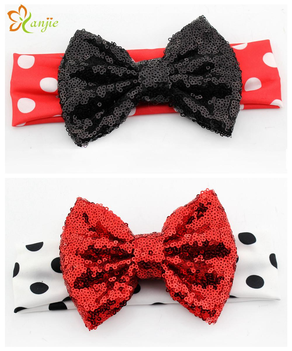 10pcs Lot Chic Lovely Girl Minnie Mouse Elastic Dot