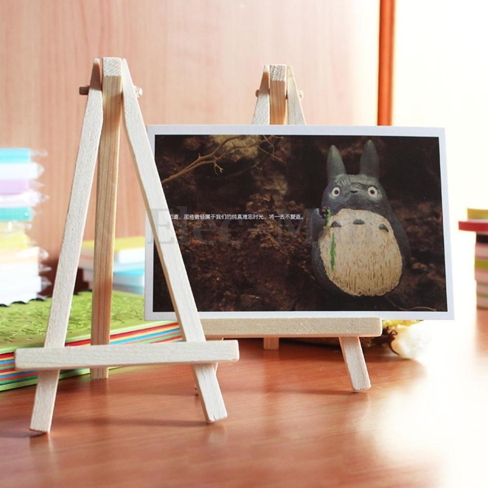 10pcs Mini Wooden Cafe Table Number Easel Wedding Place