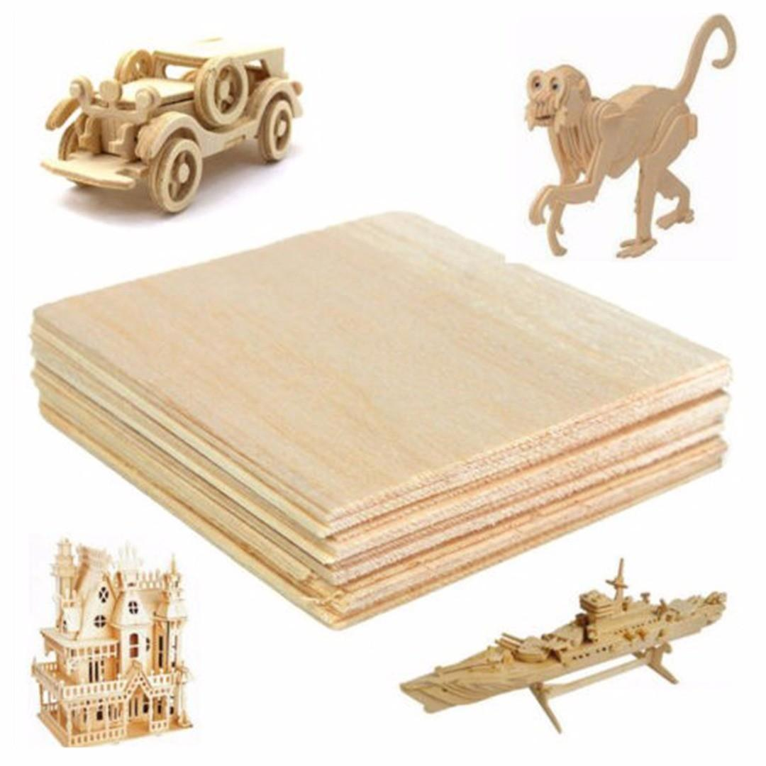 10pcs New Wooden Plate Model Balsa Wood Diy House Ship