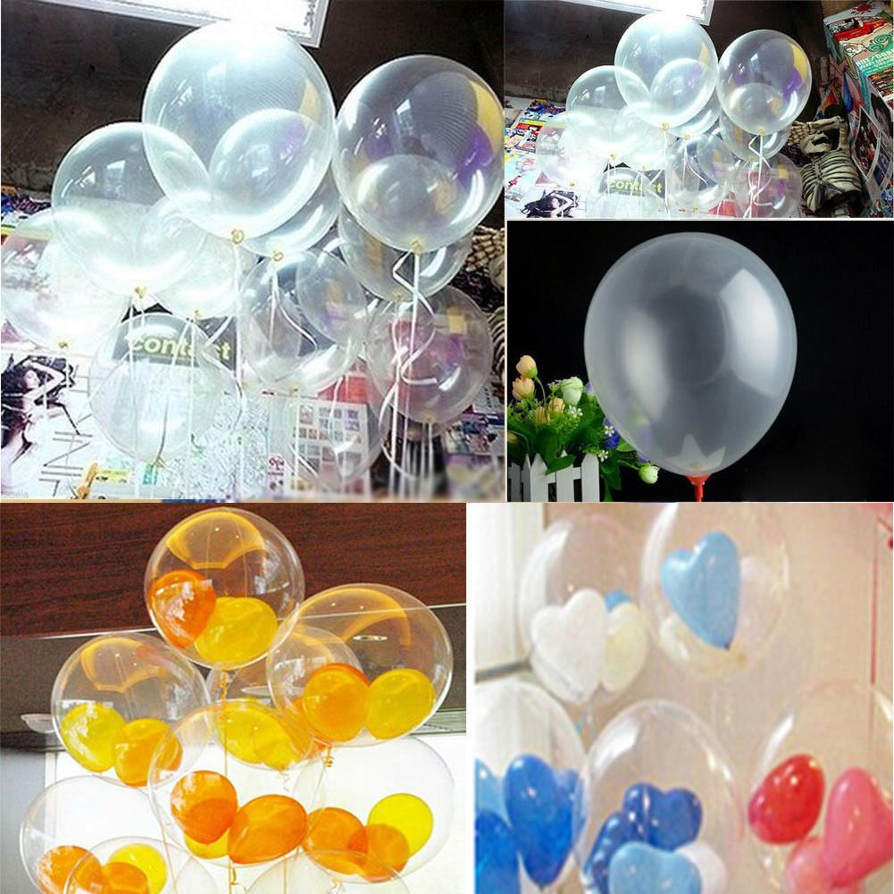 10pcs Transparent Latex Balloons Home Party Decor