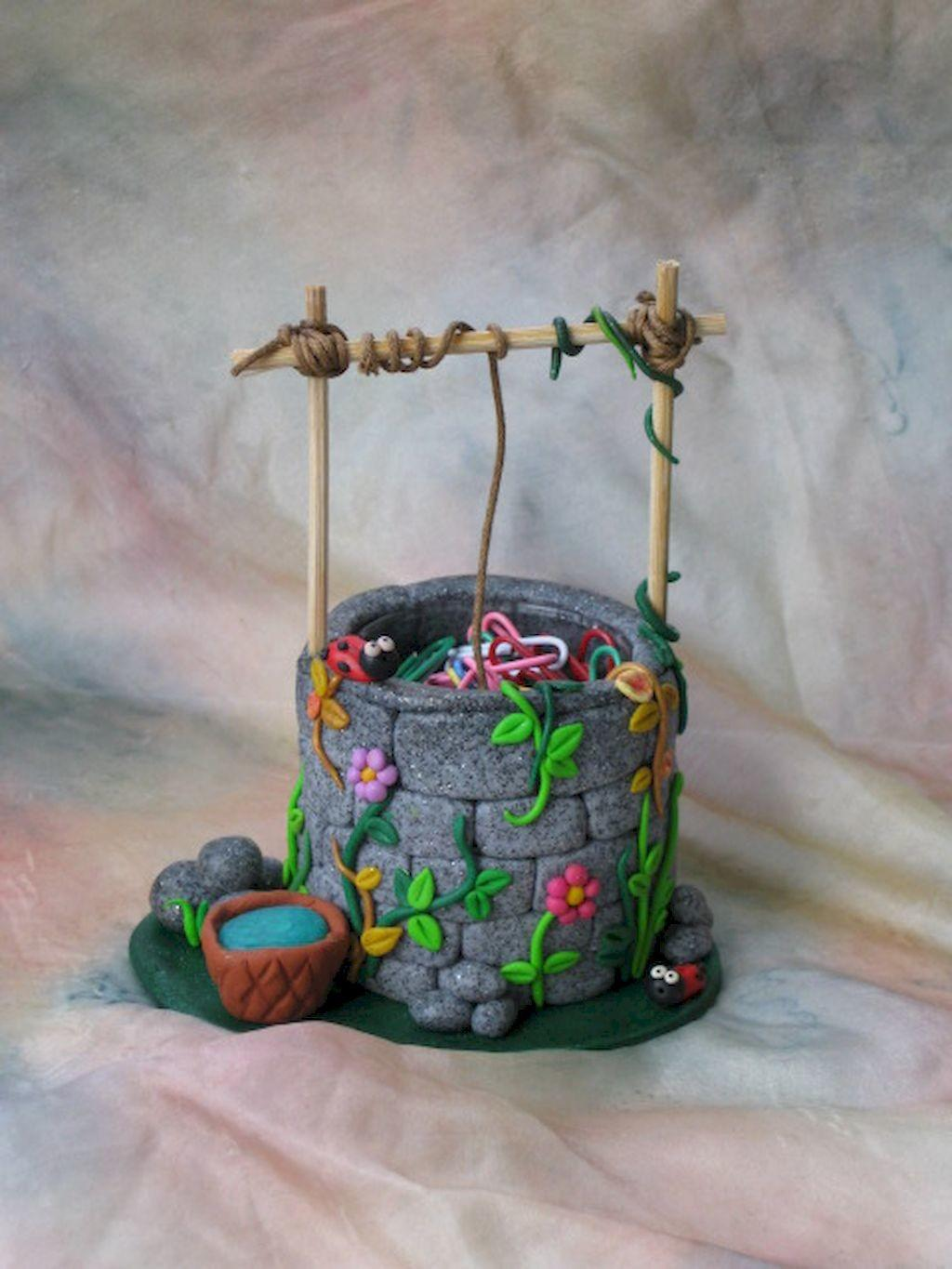 120 Easy Try Diy Polymer Clay Fairy Garden Ideas