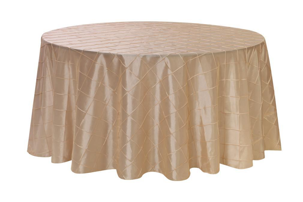 120 Inch Ivory Pintuck Round Tablecloth Wedding Tablecloths