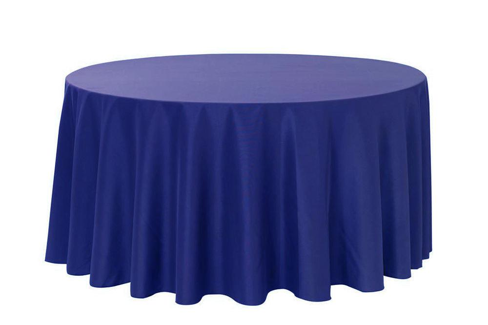 120 Inch Round Polyester Tablecloths Royal Blue