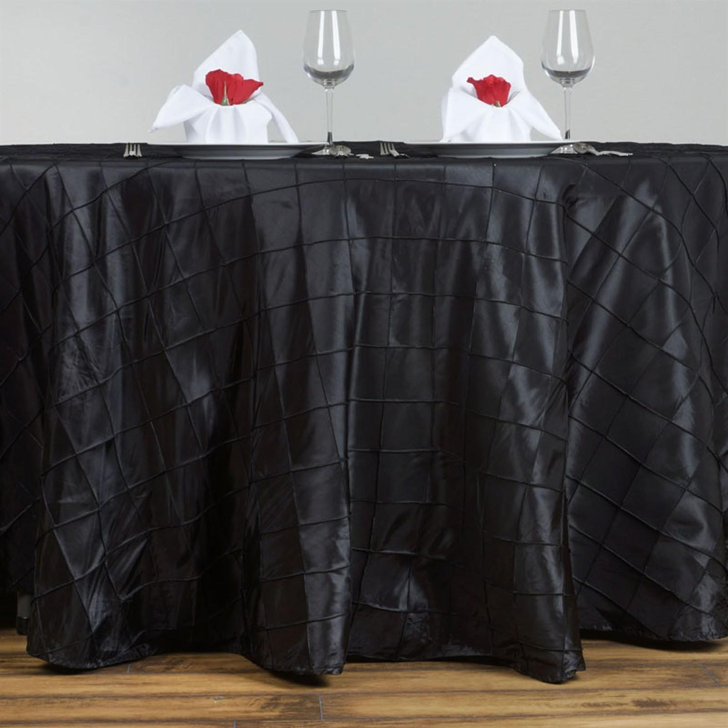 120 Pintuck Round Tablecloth Wedding Party Banquet