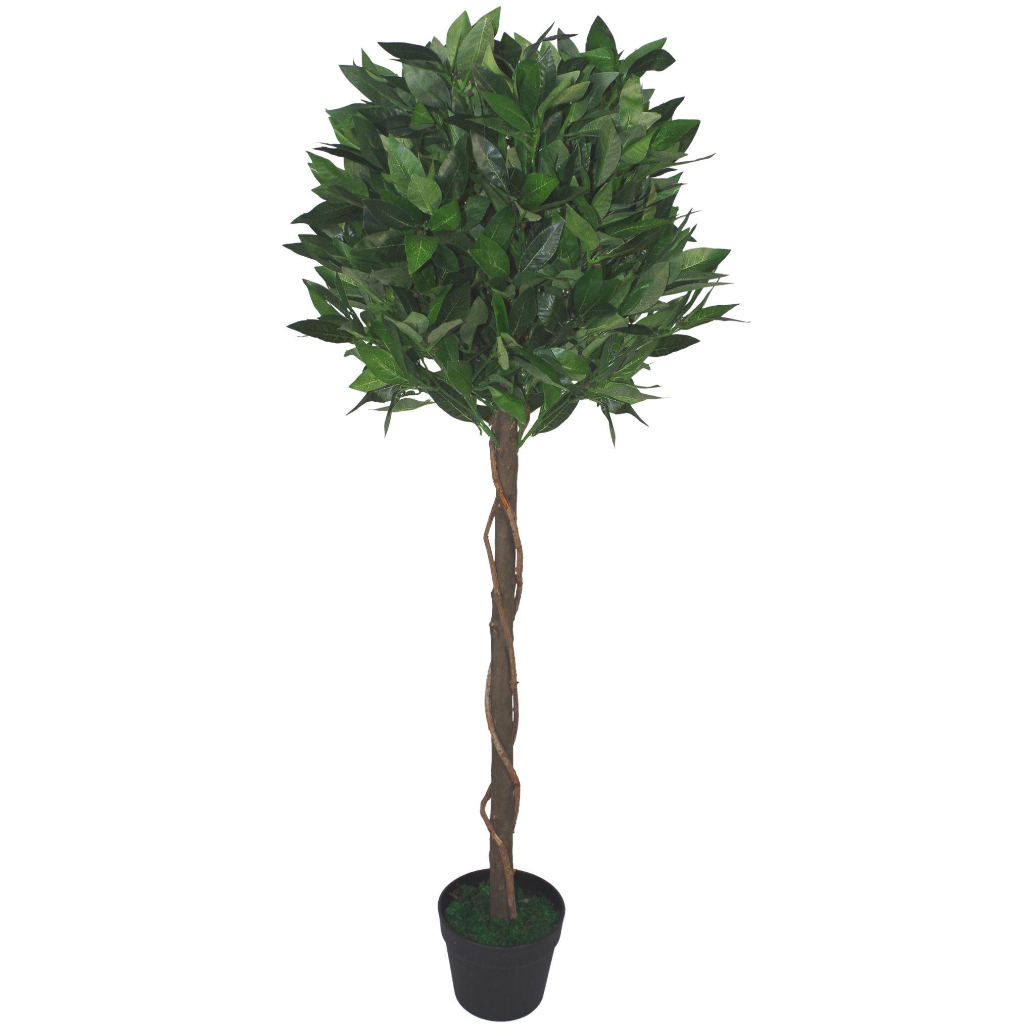 120cm 4ft Artificial Topiary Bay Laurel Tree Ball Style