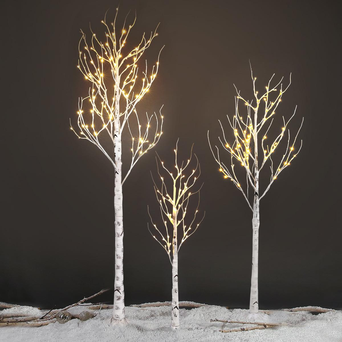 120led 7ft Silver Birch Twig Tree Light Decorative