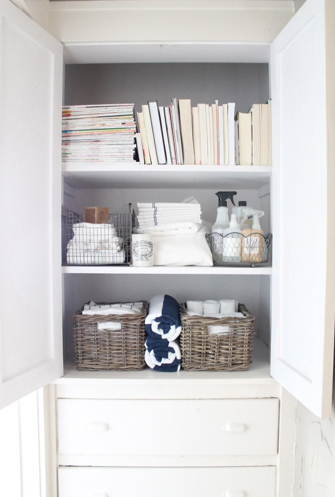 12th White Linen Closet Small Space Storage