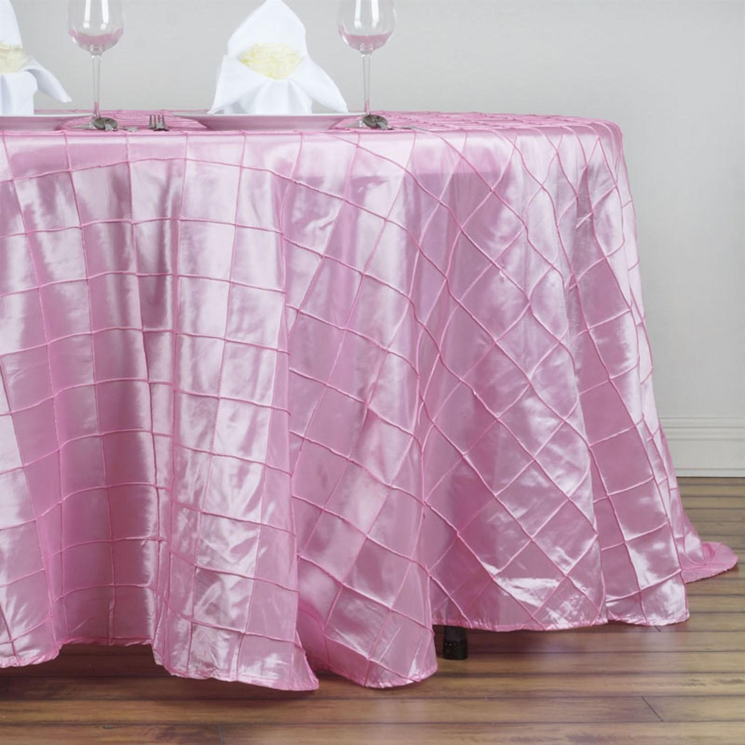 132 Pintuck Round Tablecloth Wedding Party Banquet