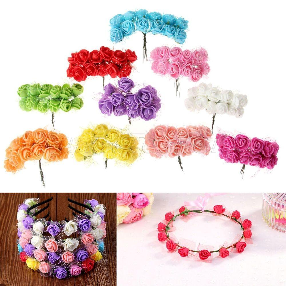 144pcs Mini Artificial Foam Rose Bouquet Wedding Gift