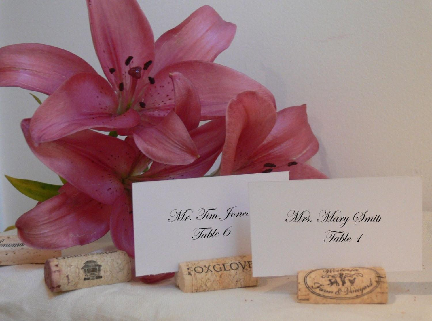 150 Wine Cork Place Card Holders Made Recycled