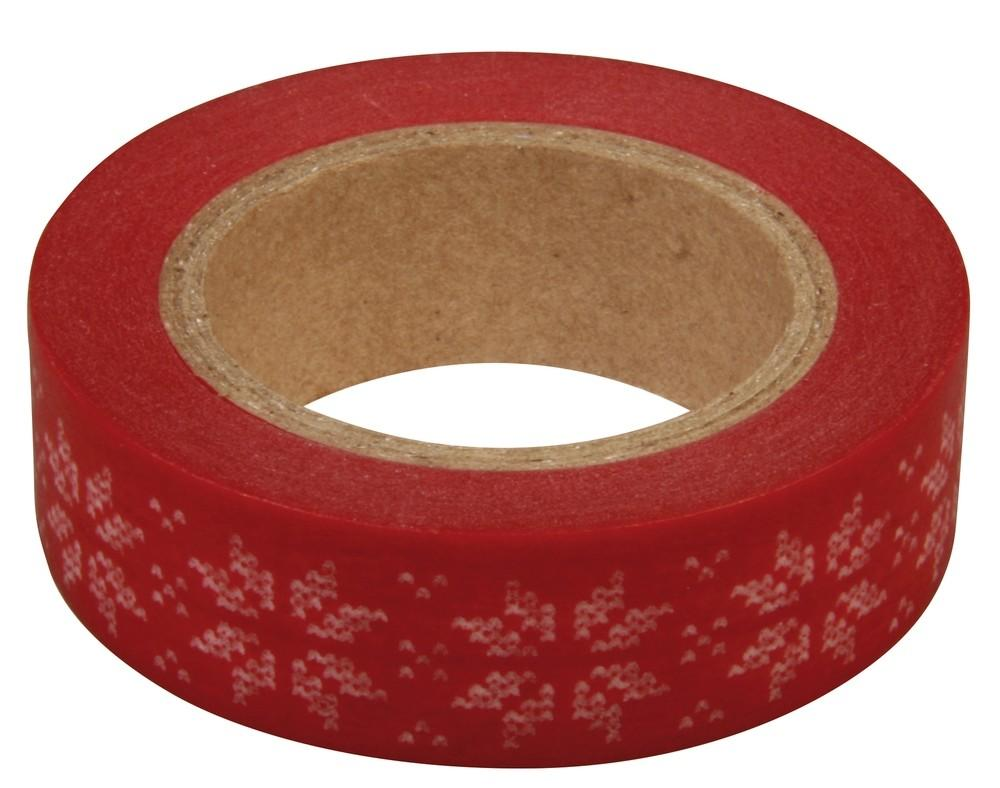 15m Nordic Snowflake Self Adhesive Washi Tape