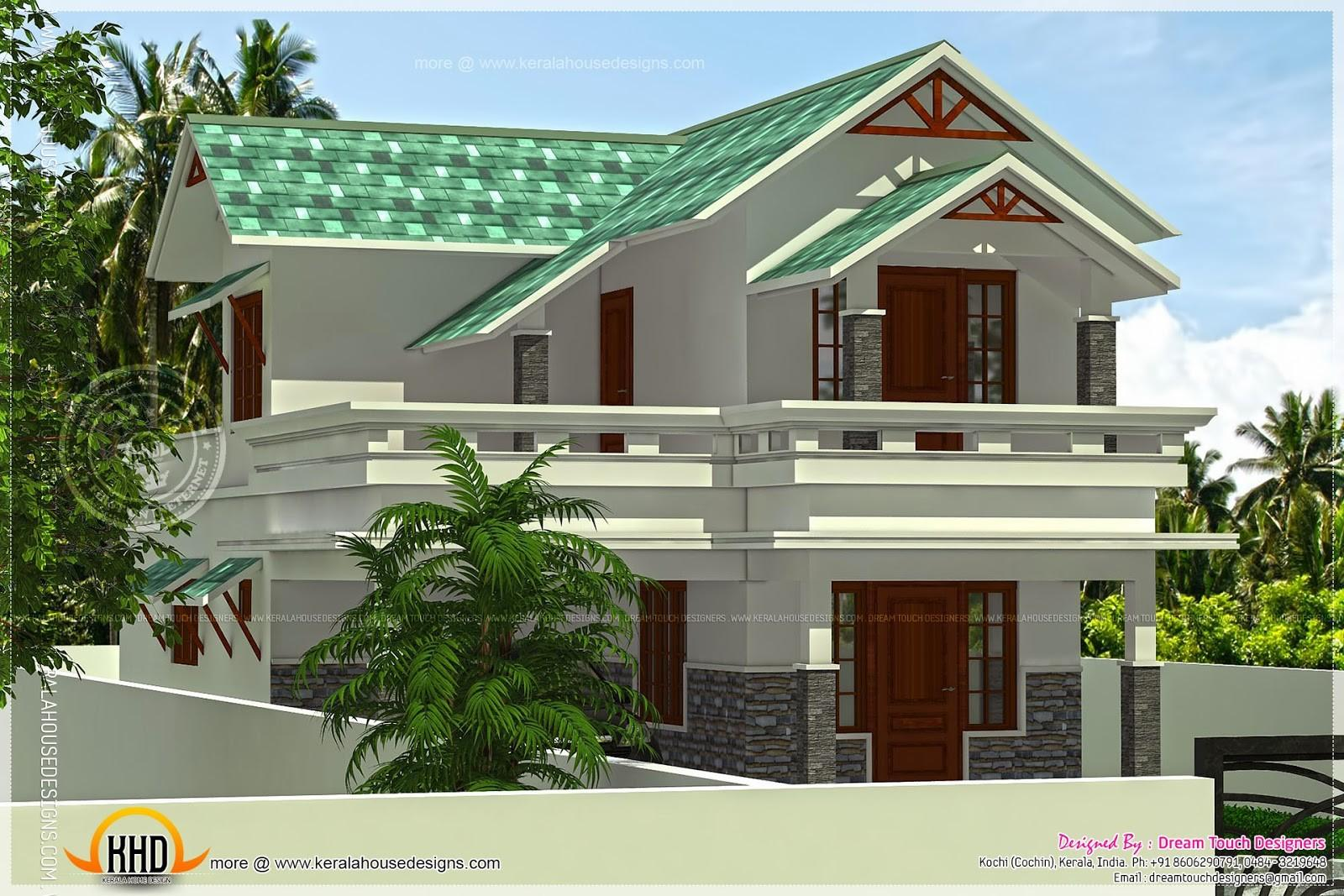 1656 Square Feet Green Roof House Indian Plans