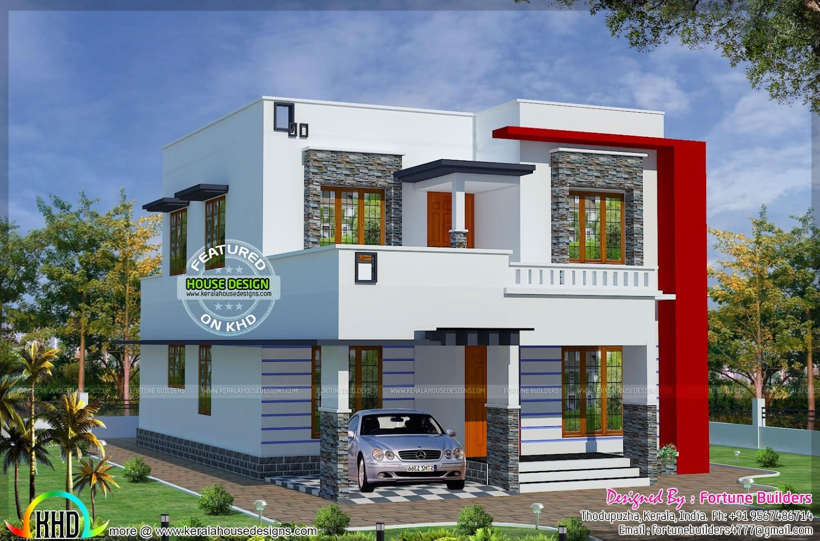1690 Low Budget Modern Home Kerala Design