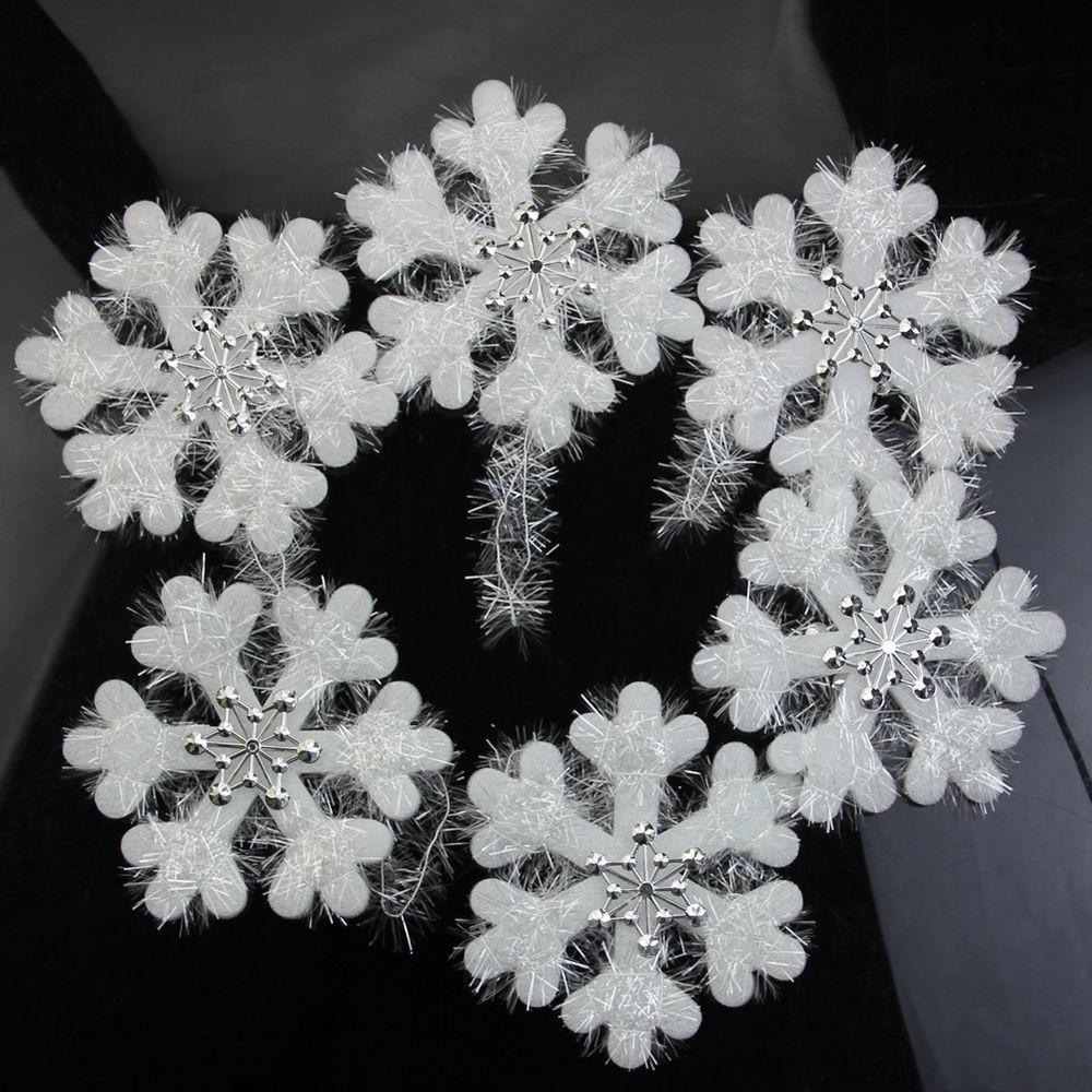 16cm Wall Window Decor Christmas Foam Snowflake Hanging