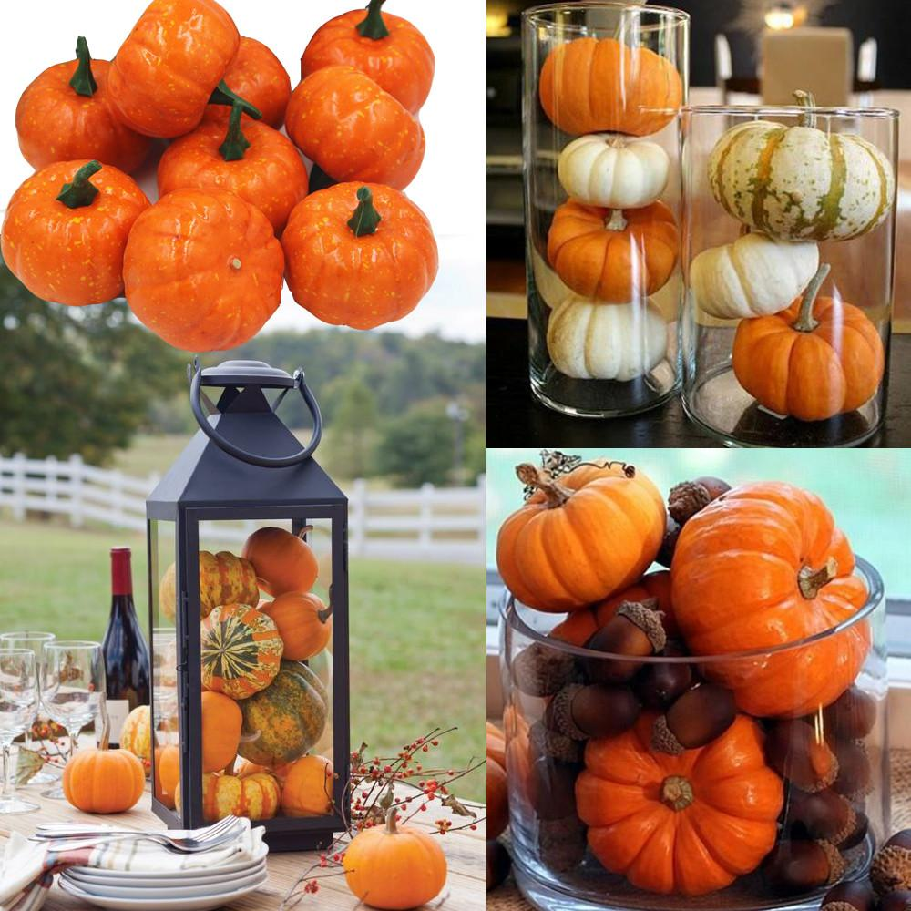 16pcs Pack Mini Foam Pumpkin Thanksgiving Fall
