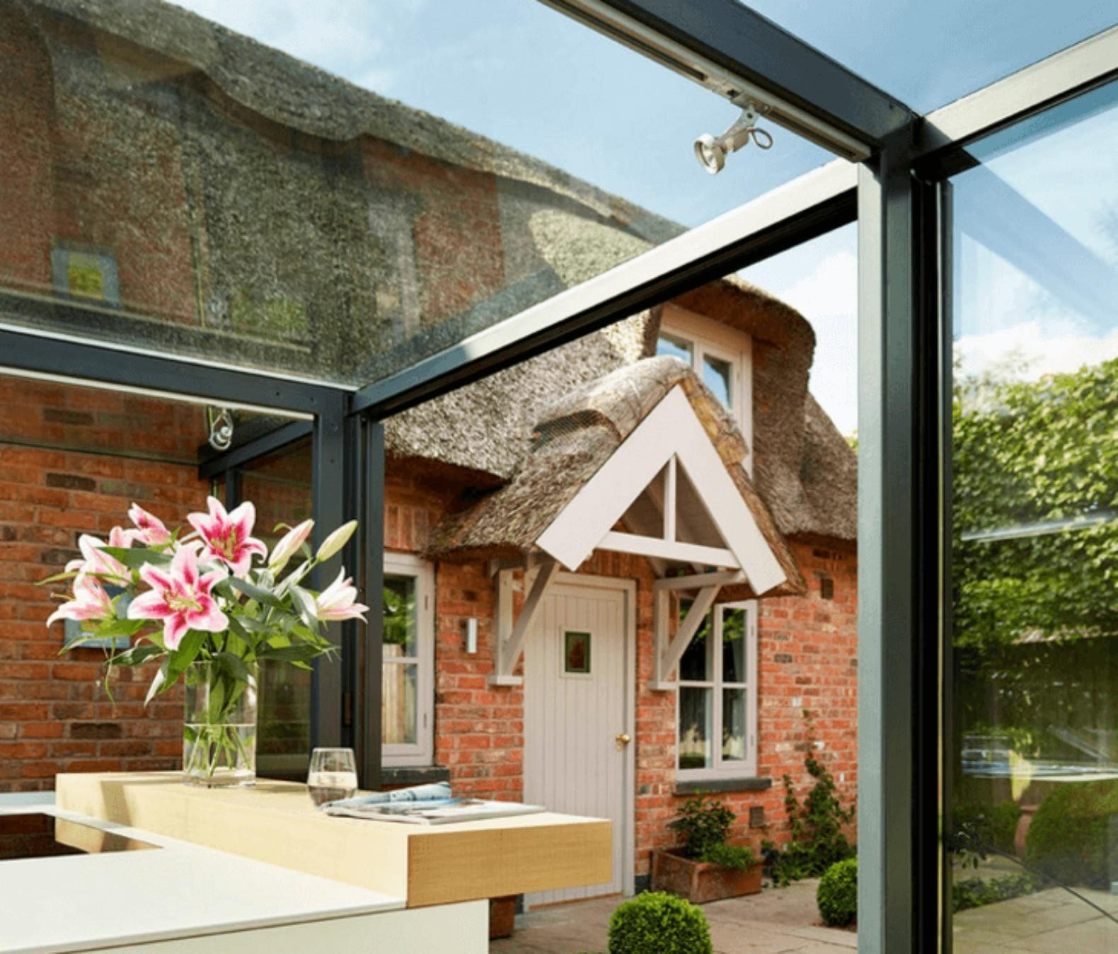 18th Century Thatched Roof English Cottage Renovated