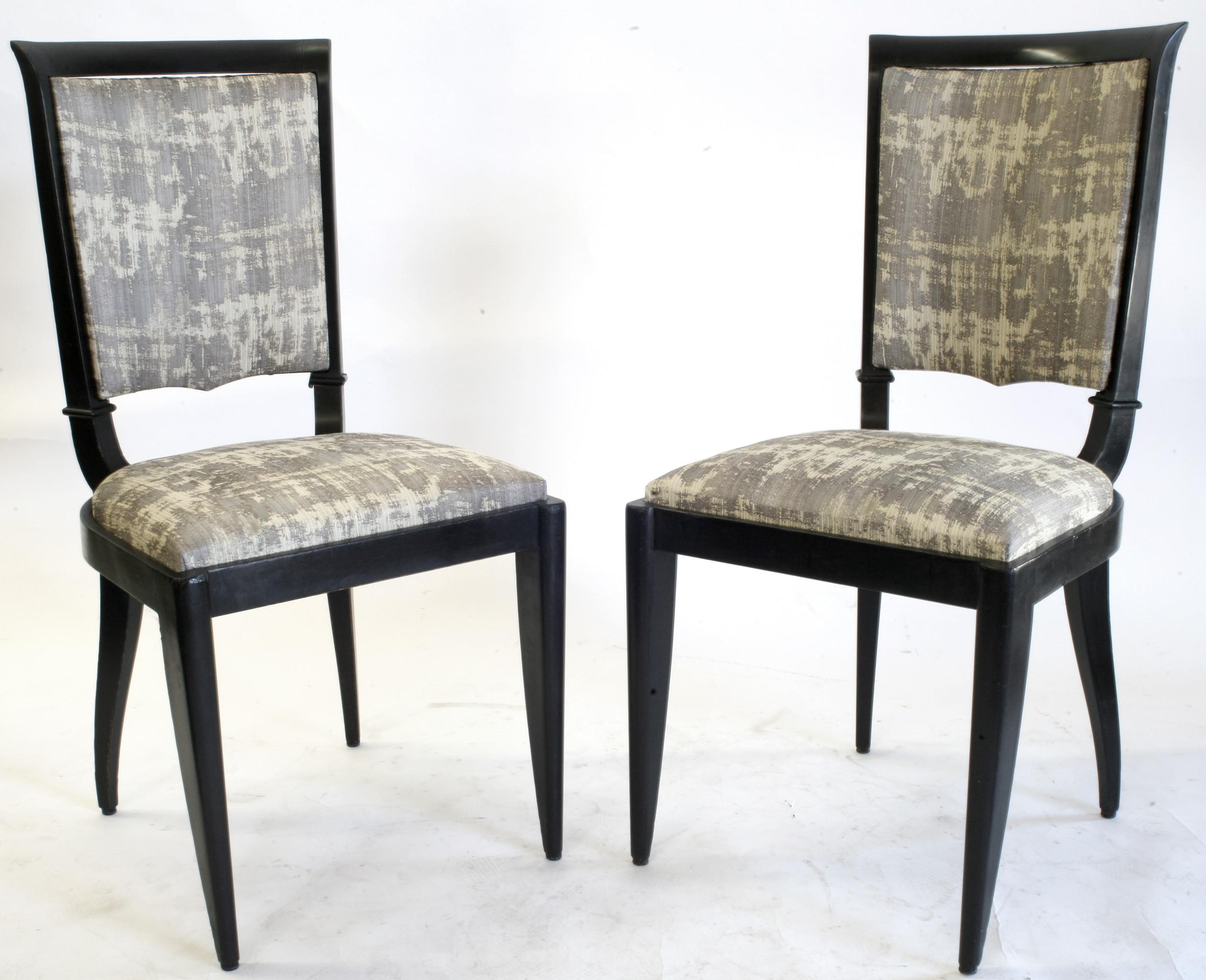 1930 French Art Deco Leleu Dining Chairs Set Omero Home