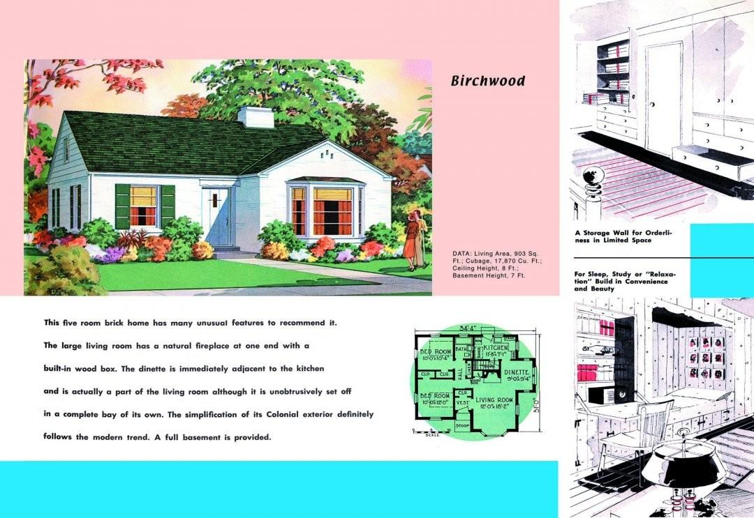 1930 House Plans 1940s Bungalow Style Rambler Ranch