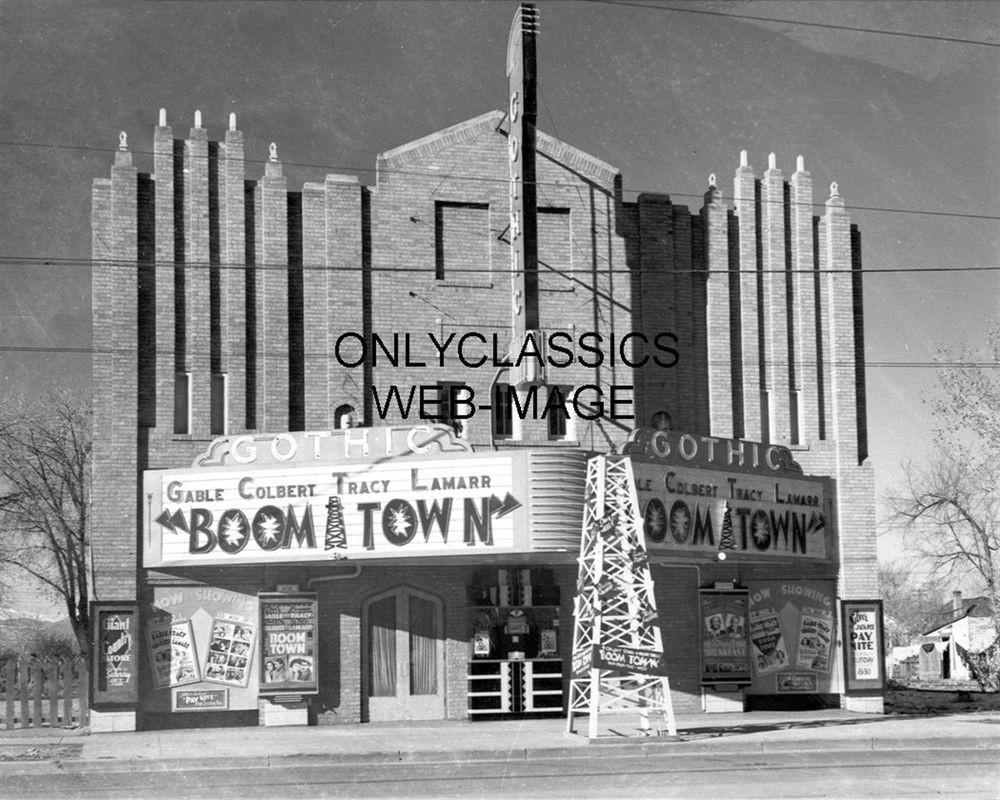 1940 Gothic Movie Theater Marquee Boom Town Colorado