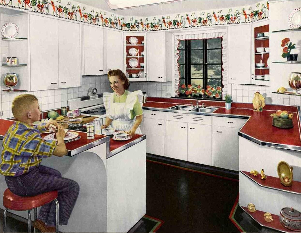 1948 Very Good Year Awesome Retro Kitchens Cary