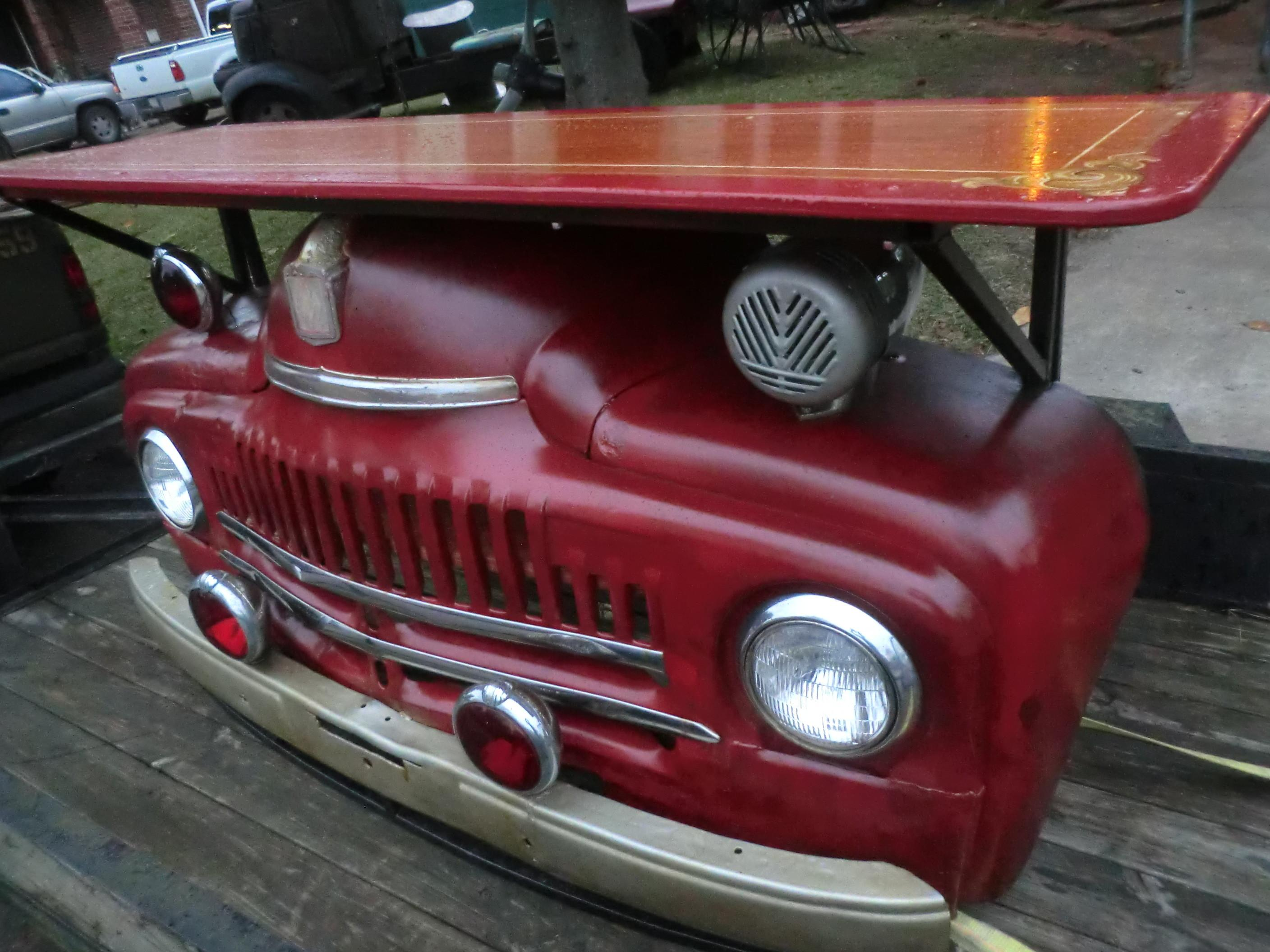 1950 International Harvester Truck Turned Into Fire