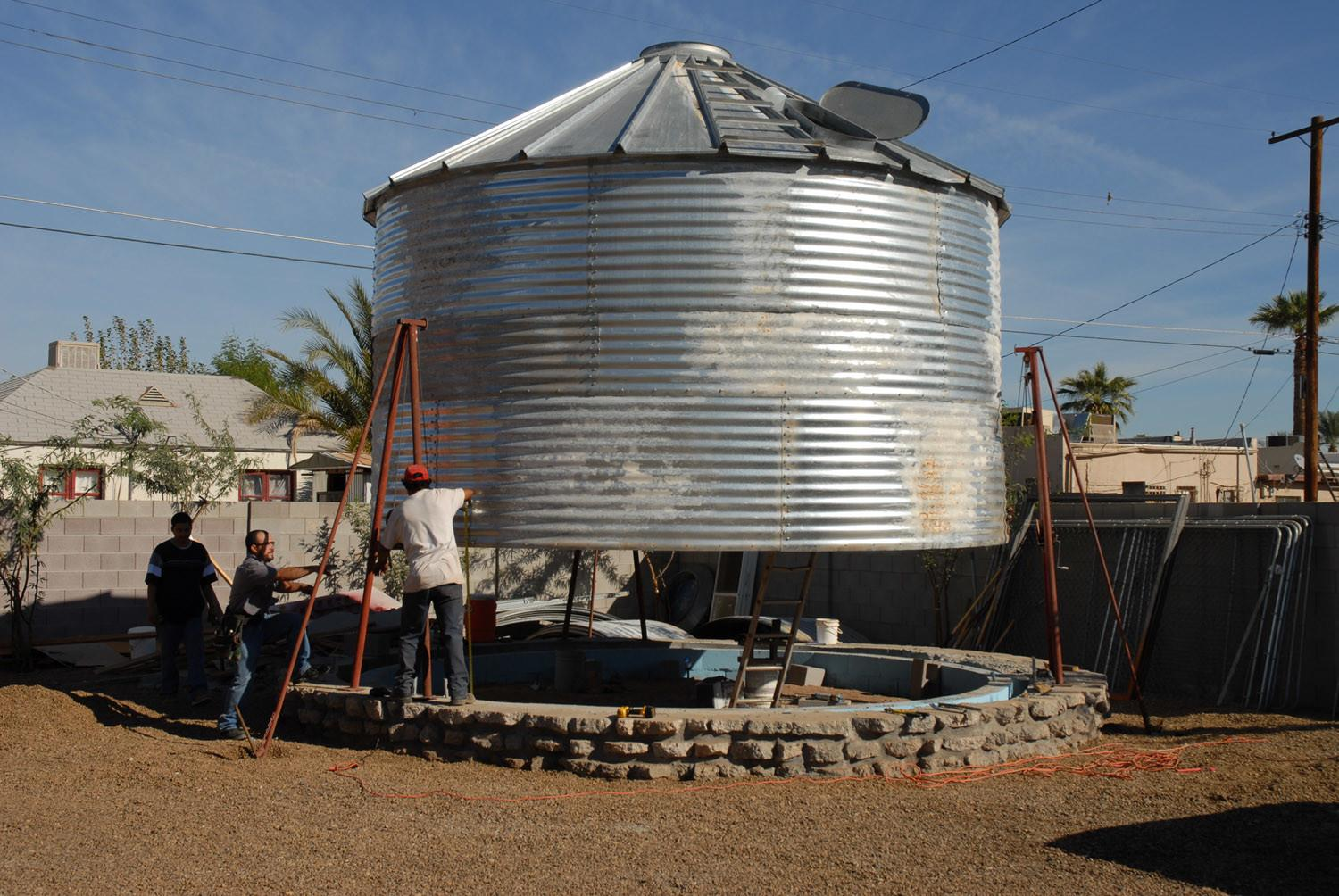 1950 Silo Converted Into Tiny House Christoph