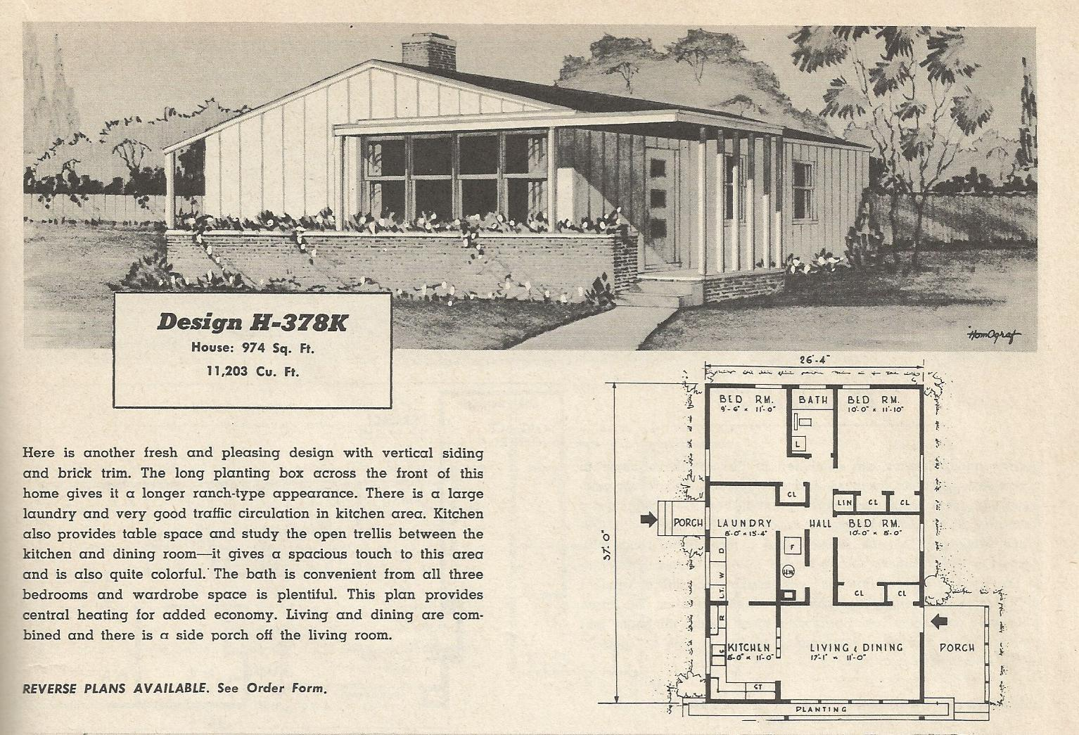 1950s Ranch House Design Wiring Diagrams