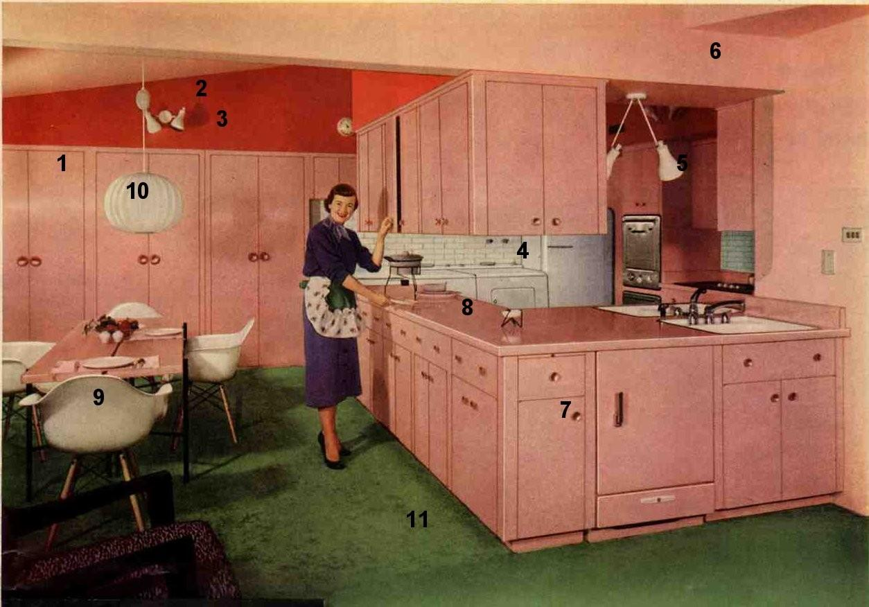 1953 Formica Pink Kitchen Today Flashback