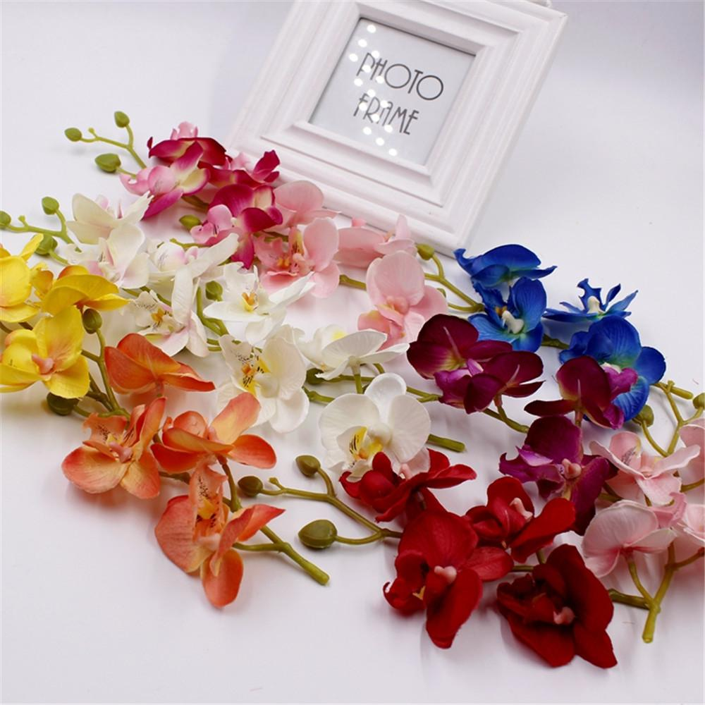 1lot Flowers Head Fashion Orchid Artificial Flower