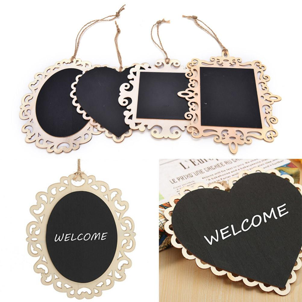 1pcs Mini Vintage Hanging Wood Blackboard Chalkboard