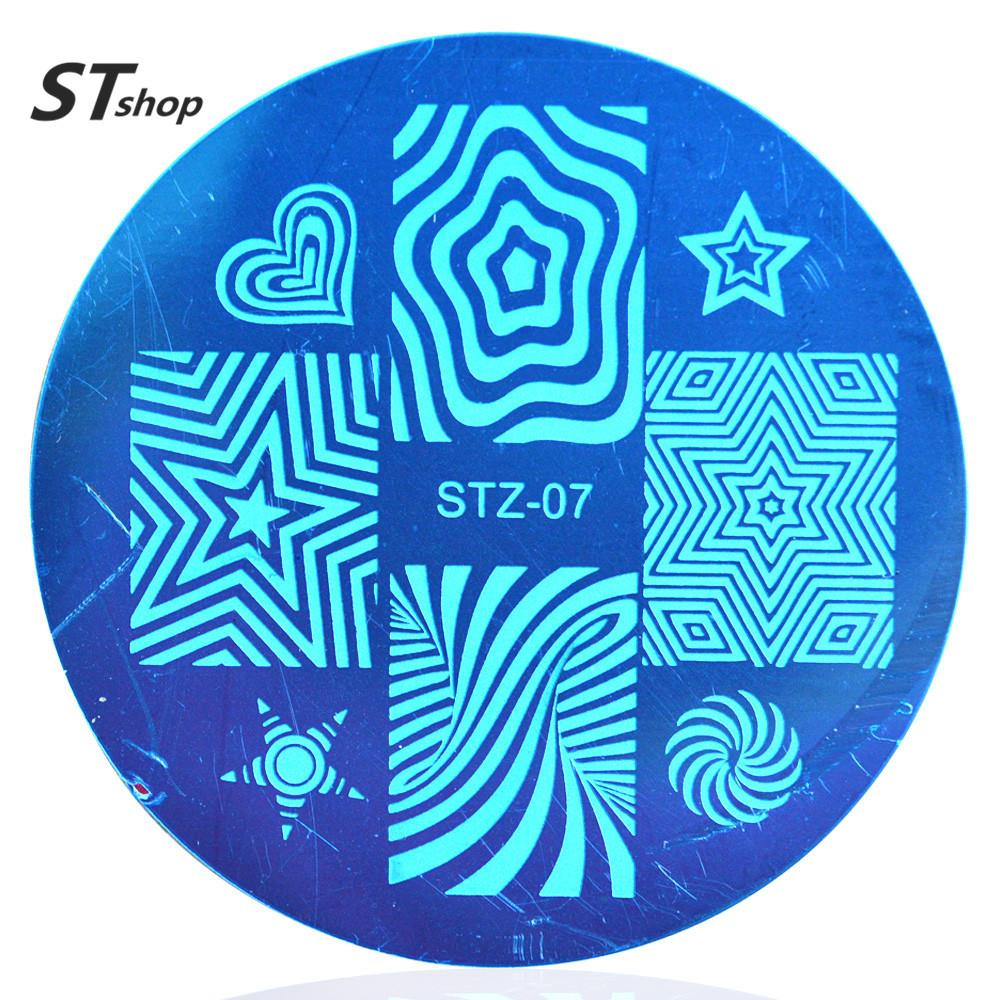 1pcs Nail Art Plate Stamp Stamping Stainless Steel Diy