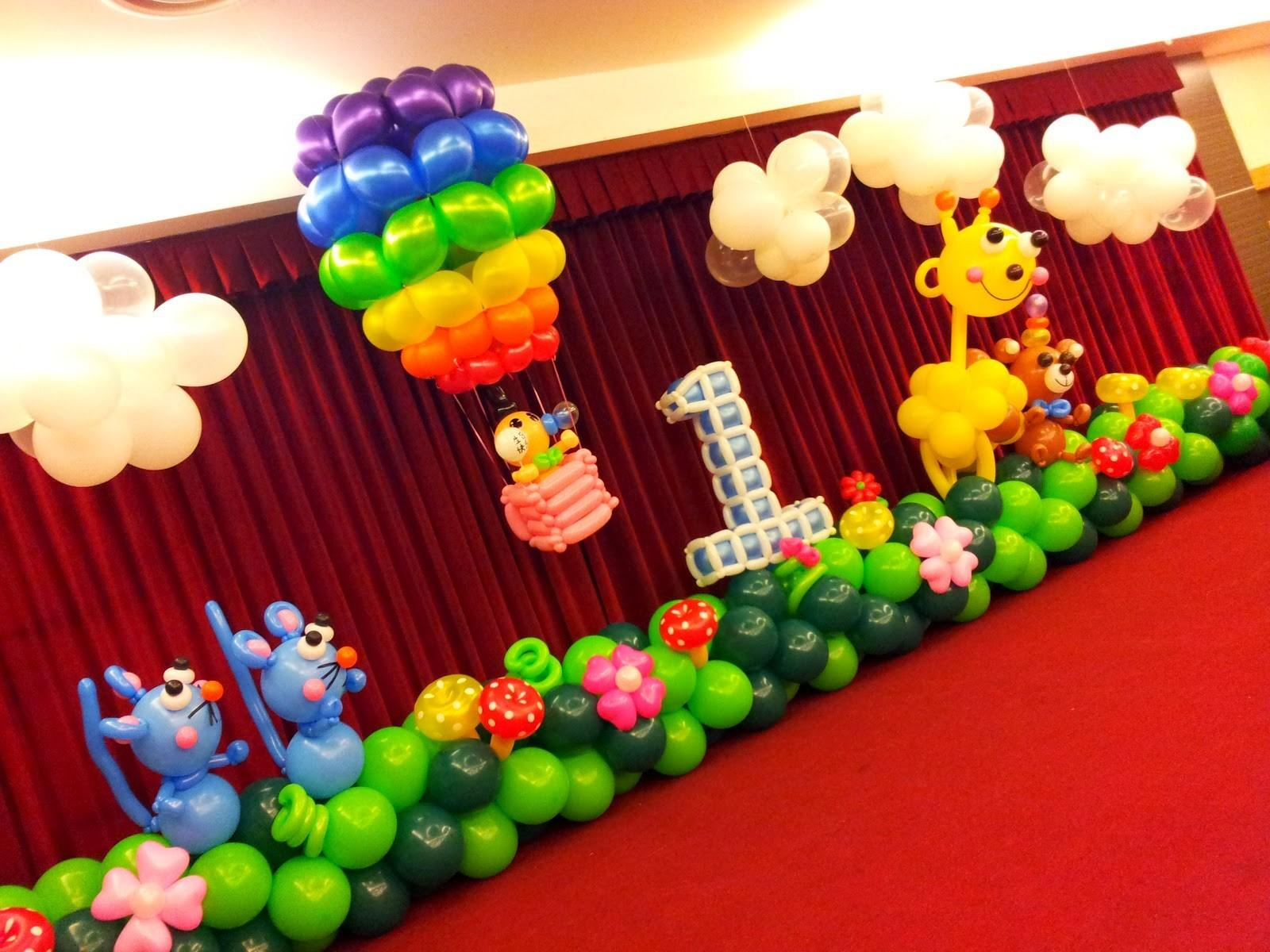 1st Birthday Balloon Decoration Ideas Nice