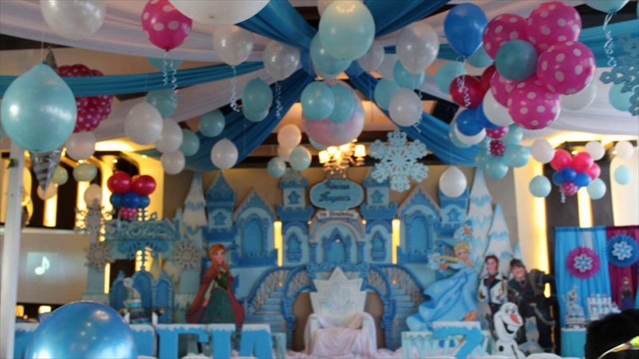 1st Birthday Princess Balloon Decoration Idea