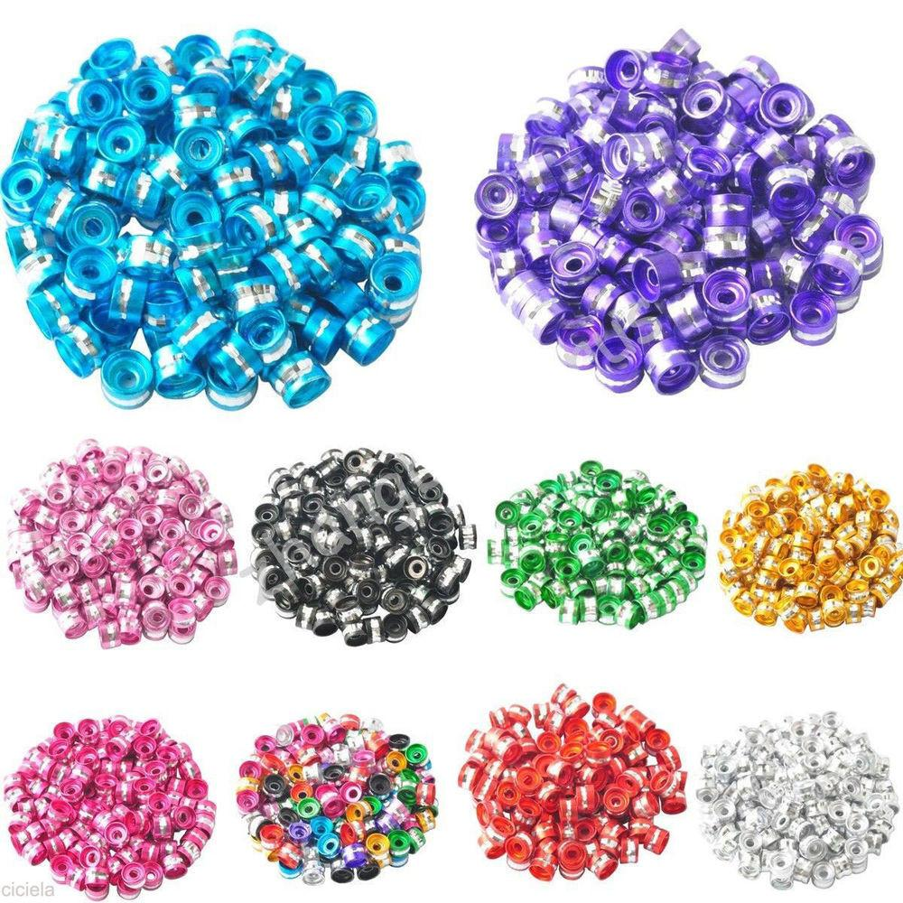 200pcs Colorful Aluminum Tube Spacer Beads Charms